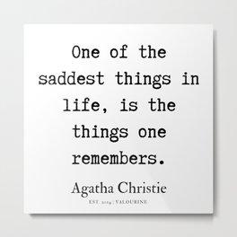 15   | Agatha Christie Quotes | 190821 Metal Print