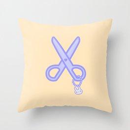 Cute scissors Throw Pillow