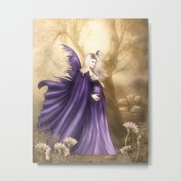 Pregnant Fairy Metal Print