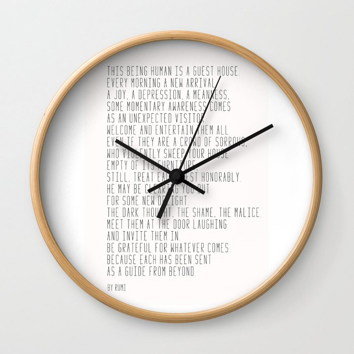 The Guest House #poem #inspirational Wall Clock