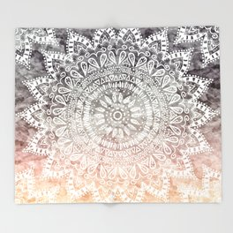 BOHEMIAN HYGGE MANDALA Throw Blanket