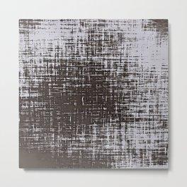 Woven Grey Abstract Metal Print