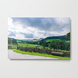 An old farm in the hills Metal Print