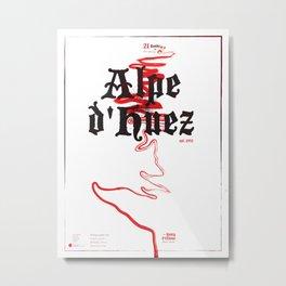 Famous Climbs: Alpe d'Huez 2, Old World Metal Print