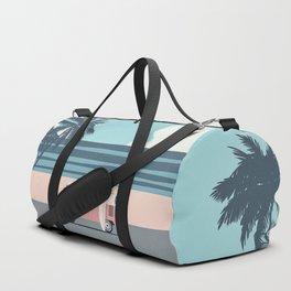 Surfer Graphic Beach Palm-Tree Camper-Van Art Duffle Bag