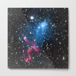 188. Abell 3411 and Abell 3412: Astronomers Discover Powerful Cosmic Double Whammy Metal Print