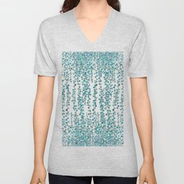 string of pearl watercolor Unisex V-Neck