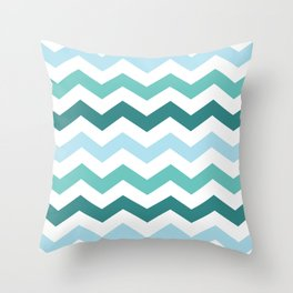 Chevron forest Throw Pillow