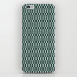 Dark Turquoise Seigaiha iPhone Skin