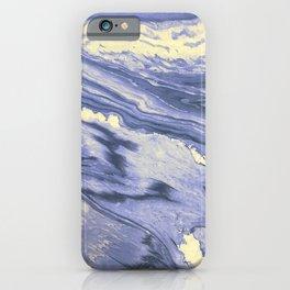 Lavender Marble With Cream Swirls iPhone Case