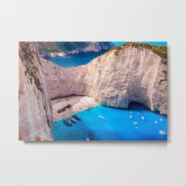 Shipwreck bay Metal Print