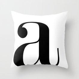"Monogram Series Letter ""a""  Throw Pillow"
