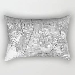 Santiago White Map Rectangular Pillow