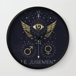Le Jugement or The Judgement Tarot Wall Clock