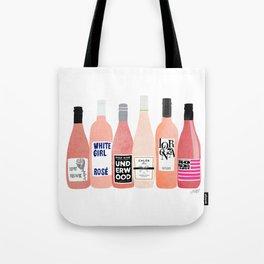 Rose Wine Bottles Tote Bag