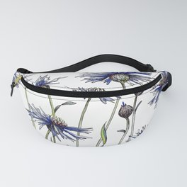 Blue Cornflowers, Illustration Fanny Pack
