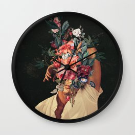 Roses Bloomed every time I Thought of You Wall Clock