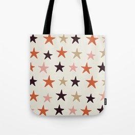 Star Pattern Color Tote Bag