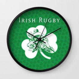 Irish Rugby by PPereyra Wall Clock