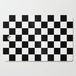 Traditional Black And White Chequered Start Flag Cutting Board