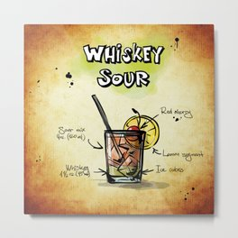Whiskey Sour Metal Print