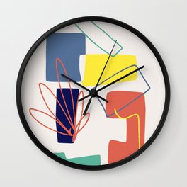 Color block abstract impressionist Wall Clock