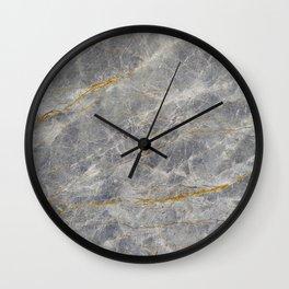 Grey Marble Wall Clock