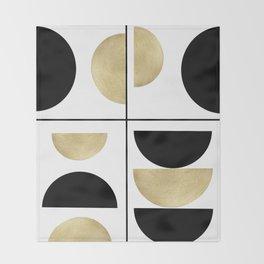 Sun and Moon Geometric #1 #minimal #decor #art #society6 Throw Blanket