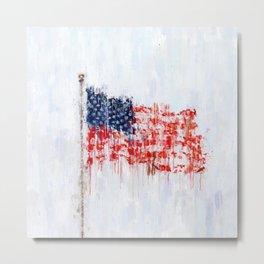 Painted American Flag Metal Print