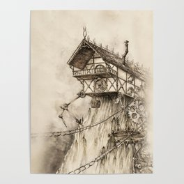 Steampunk House Poster