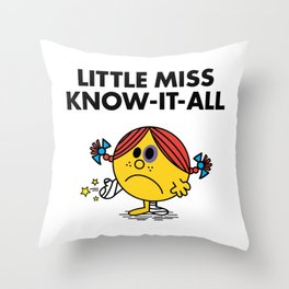 Know-It-All Throw Pillow