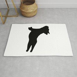 French Bulldog. Puppy Silhouette. Yoga Puppy Rug