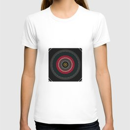 Modern Black White and Red Mandala T-shirt
