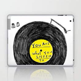 you are what you listen to, YELLOW Laptop & iPad Skin