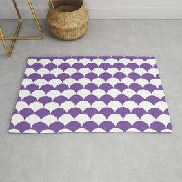 Purple Fan Shell Pattern Rug