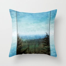 View from Clingman's Dome Tennessee Smoky Mountains Throw Pillow