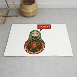 Russian Doll NYET! Rug
