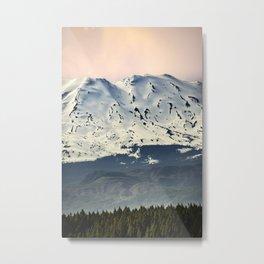 Mount St. Helens at Sunset Metal Print