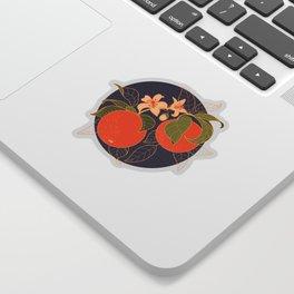 Orange Branch Sticker