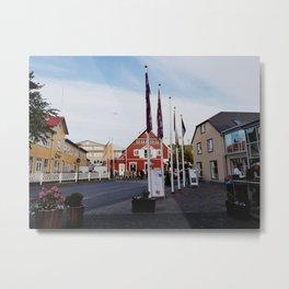 Backroads of Reykjavik in the 10 p.m. Dusk Metal Print