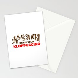 Enjoy Your Kloppuccino Stationery Cards
