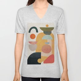 Modern Abstract Art 70 Unisex V-Neck