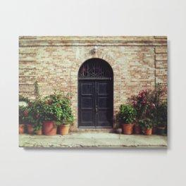 Courtyard Door Metal Print