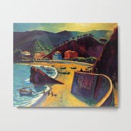 Cinque Terre al Mare Italian Coastline by Hermann Max Pechstein Metal Print