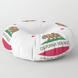 California Republic Flag - Bear Flag Floor Pillow