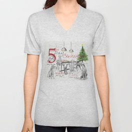 FIFTH DAY OF CHRISTMAS WEIMS Unisex V-Neck