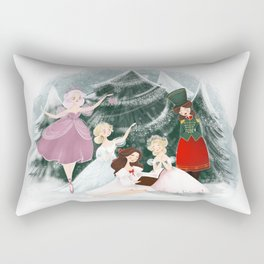 Noelle's Nook Readathon Illustration  Rectangular Pillow