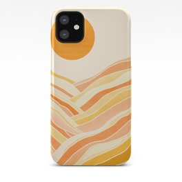 Golden Mountain Sunset iPhone Case