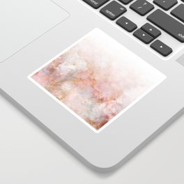Beautiful Pink and Gold Ombre marble under snow Sticker