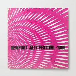 1966 Newport Jazz Festival Vintage Advertisement Poster Newport, Rhode Island Metal Print